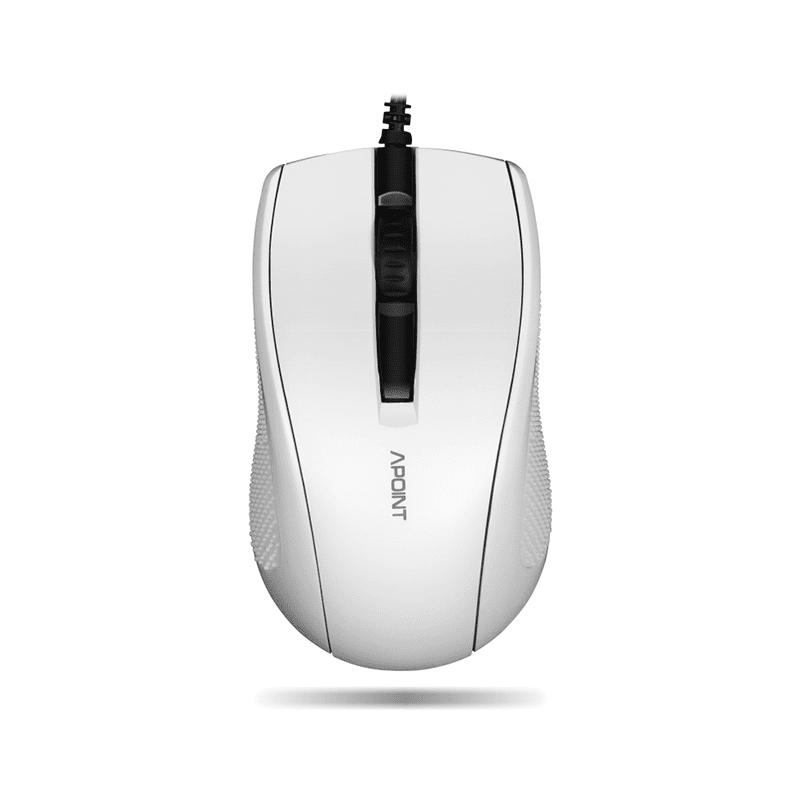 Apoint M6 Ενσύρματο Ποντίκι Μαύρο Λευκό