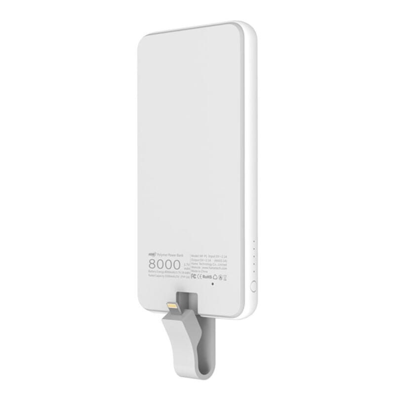 Hame MF-P1 Polymer Power Bank 8000mAh Built-in Lightning Cable