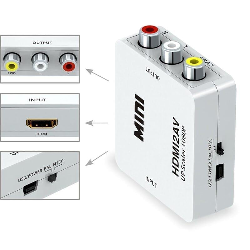 HDMI to RCA Μετατροπέας Εικόνας & Ήχου 1080P