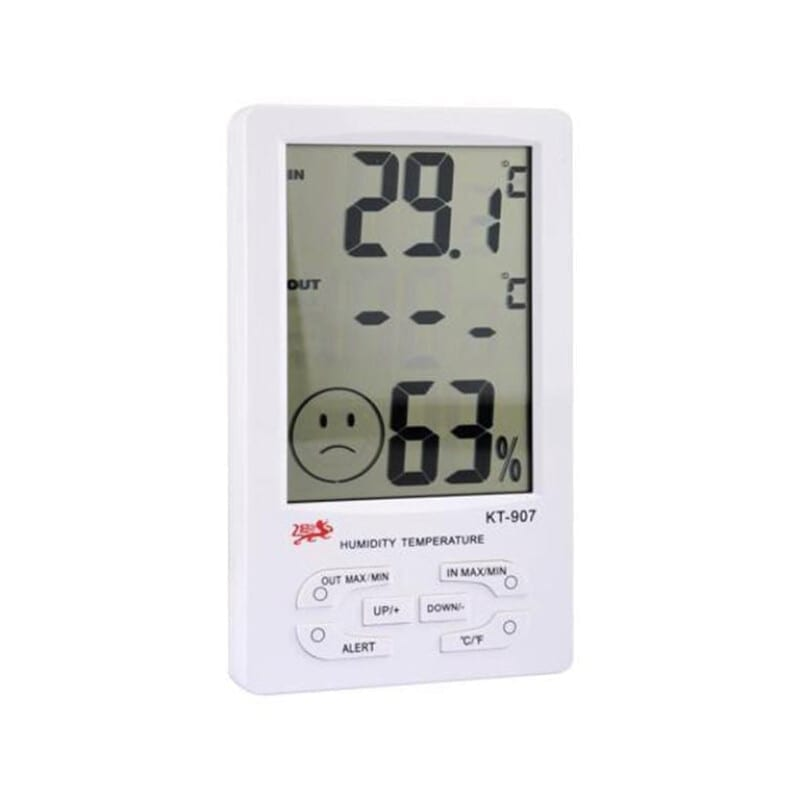 KT-907 Ψηφιακό Θερμόμετρο / Υγρασιόμετρο Εσωτερικού Χώρου Με αισθητήρα εξωτερικού