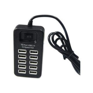 Σταθμος φορτισης P-1603 10 Ports USB Hub Μαύρο