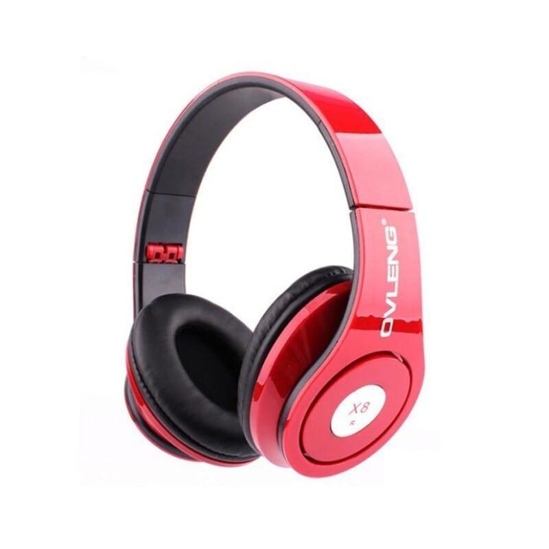 Ovleng X8 Ενσύρματα Ακουστικά Με Mικρόφωνο Κόκκινο