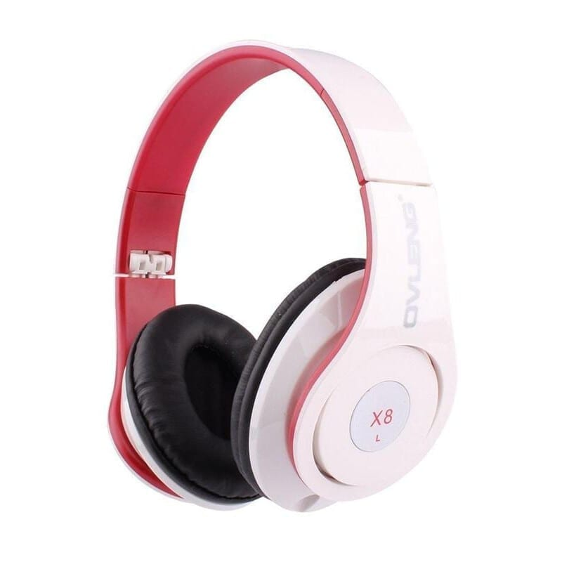 Ovleng X8 Ενσύρματα Ακουστικά Με Mικρόφωνο Μαύρο Λευκό