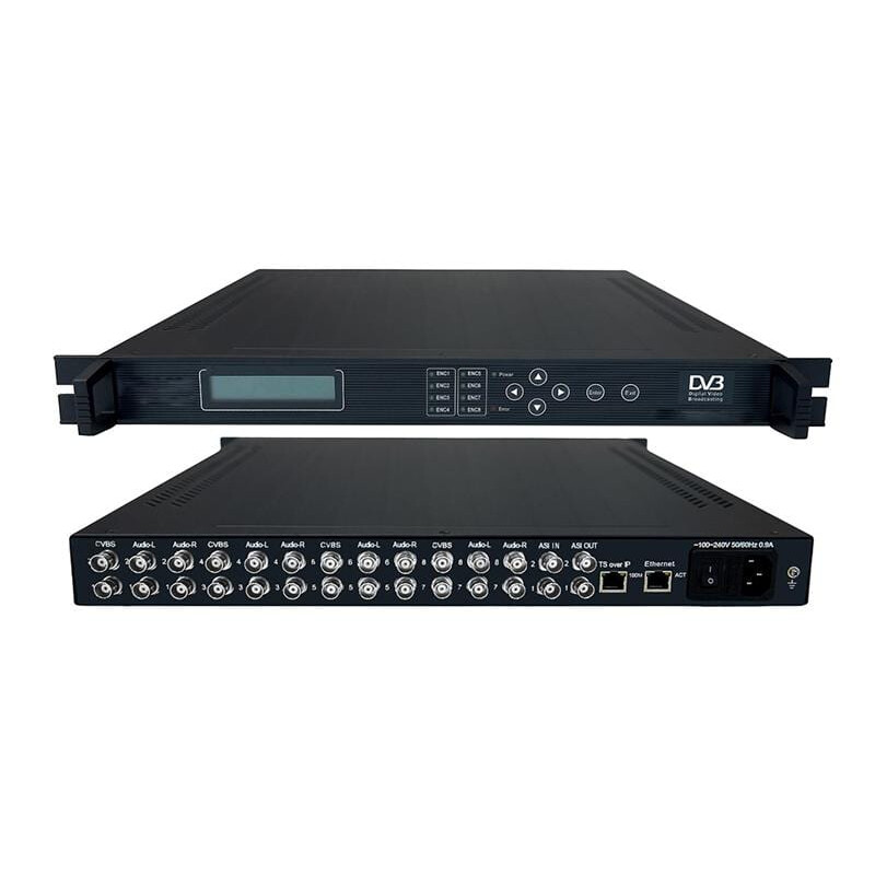 AV To ASI MPEG2 Encoder 8×CVBS IN / 2xASI IN / 2xASI OUT
