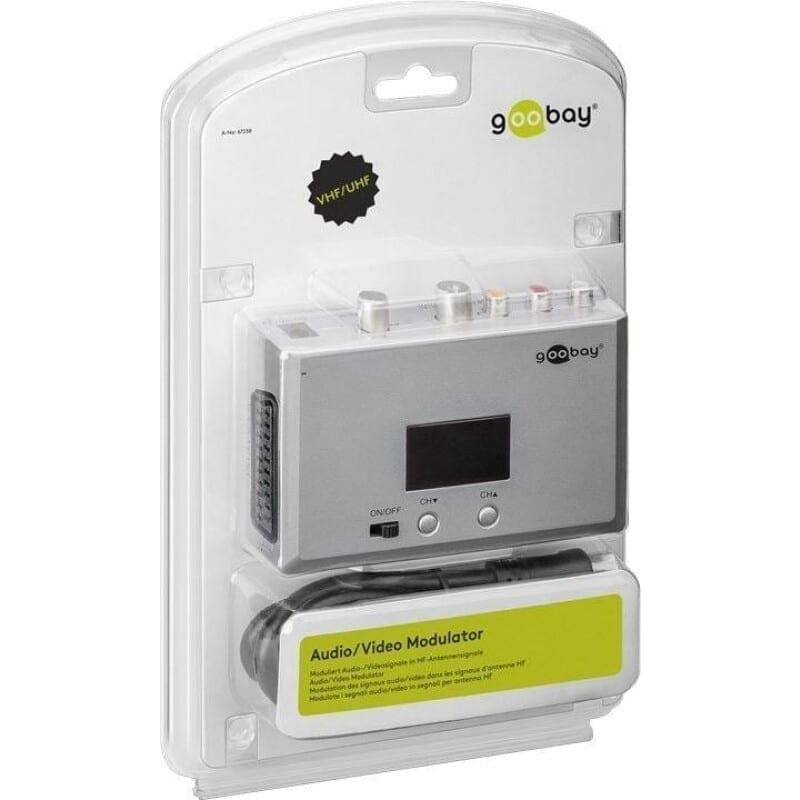 Goobay 67238 Audio/Video HF Αναλογικό Modulator με LED (UHF/VHF)