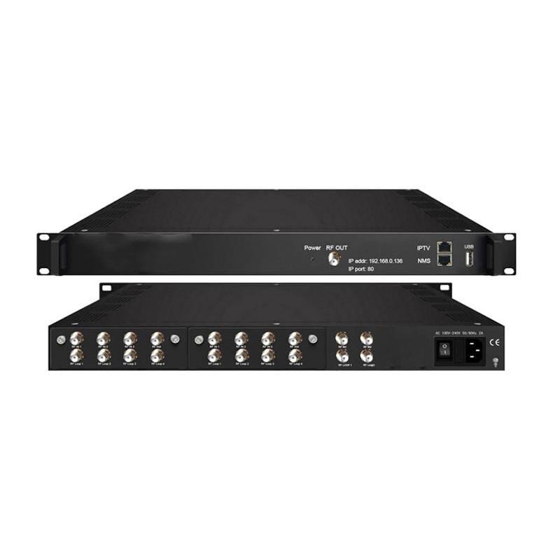 DVB-T QAM TransModulator 10xDVB-S2 IN / 3xDVB-T RF OUT