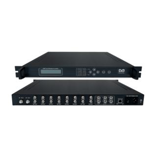 DVB-C QAM TransModulator με MUX Scrambler 8xDVB-S/S2 IN/6xASI IN/4xDVD-C RF OUT