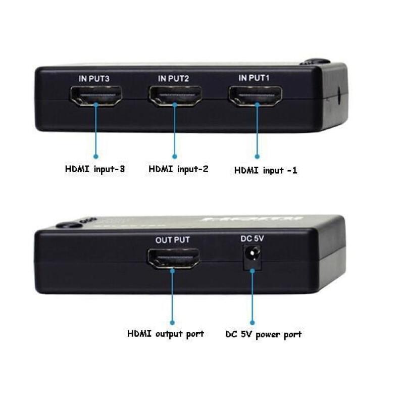 HS022 HDMI Switch 3 Ports 1080P 3D