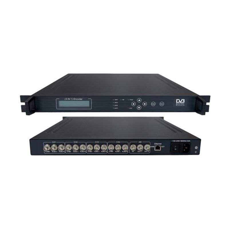 AV To ASI MPEG2 Encoder 4×CVBS IN / 1xASI IN / 2xASI OUT