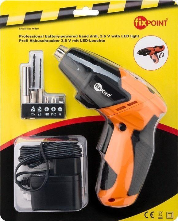Fixpoint 71880 Κατσαβίδι / Τρυπάνι Μπαταρίας