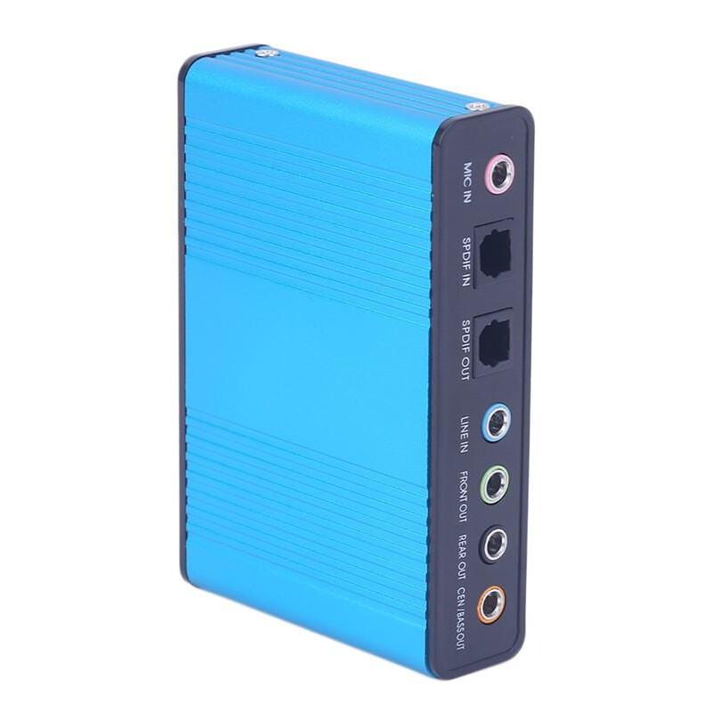 USB Sound Εξωτερική Κάρτα Ήχου 5.1 & Είσοδο/Έξοδο Οπτικής Ίνας