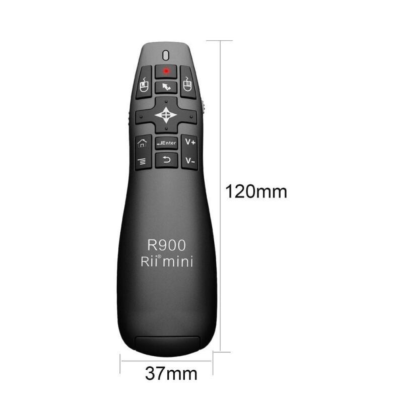 Rii R900 2.4Ghz Ασύρματο Air Mouse με Laser Παρουσίασης