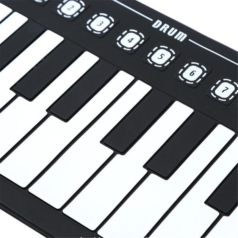 Φορητό Ευλύγιστο Αρμόνιο Synthesizer Αφής 49 Πλήκτρων