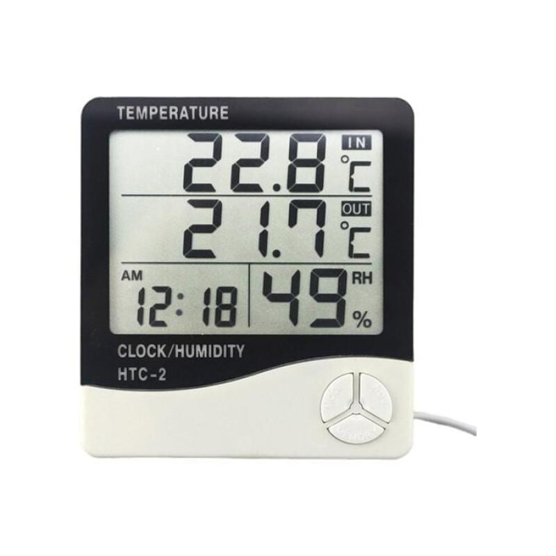 HTC-2 Ψηφιακό Θερμόμετρο / Υγρασιόμετρο Εσωτερικού Χώρου & Αισθητήρα Εξωτερικού Χώρου