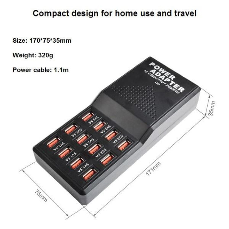 W-858 Σταθμός Φόρτισης USB 12 Θέσεων