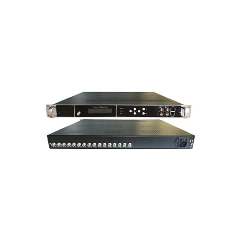 TRANSMODULATOR  8DVBS2  BISS  2ASI  128 IP IN  4 DVBC-T OUTPUT