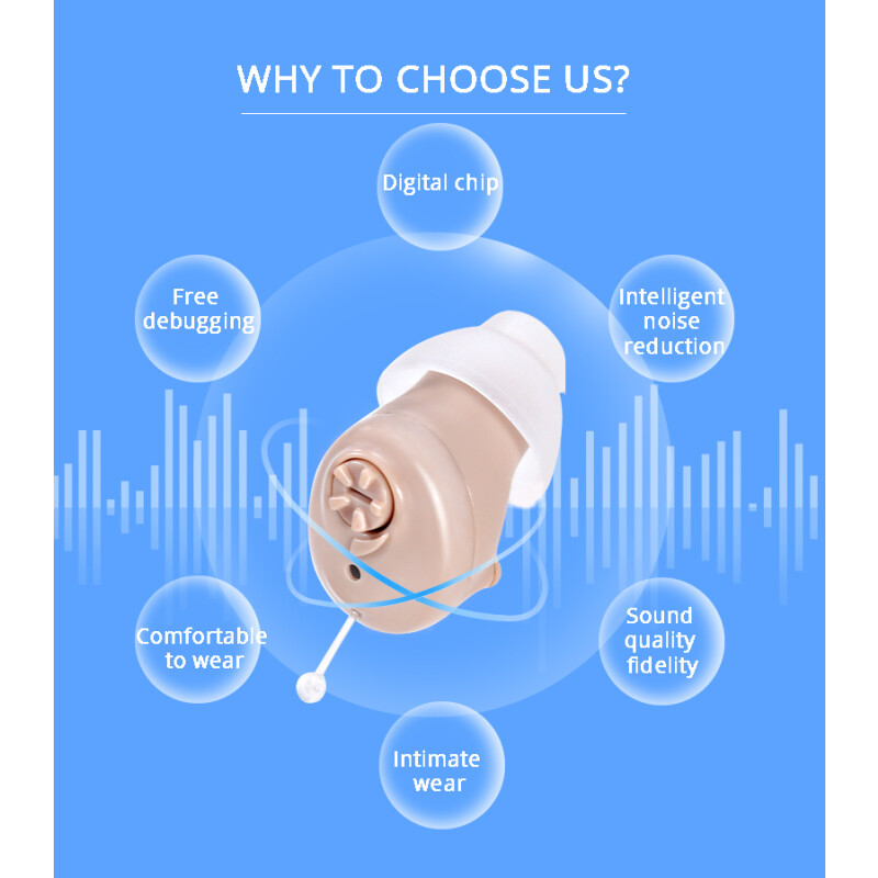 Ενδοκαναλικό Ακουστικό Ενίσχυσης Ακοής & Βοήθημα Βαρηκοΐας D-7000 Το μικρότερο σχεδόν αόρατο ακουστικό ενίσχυσης