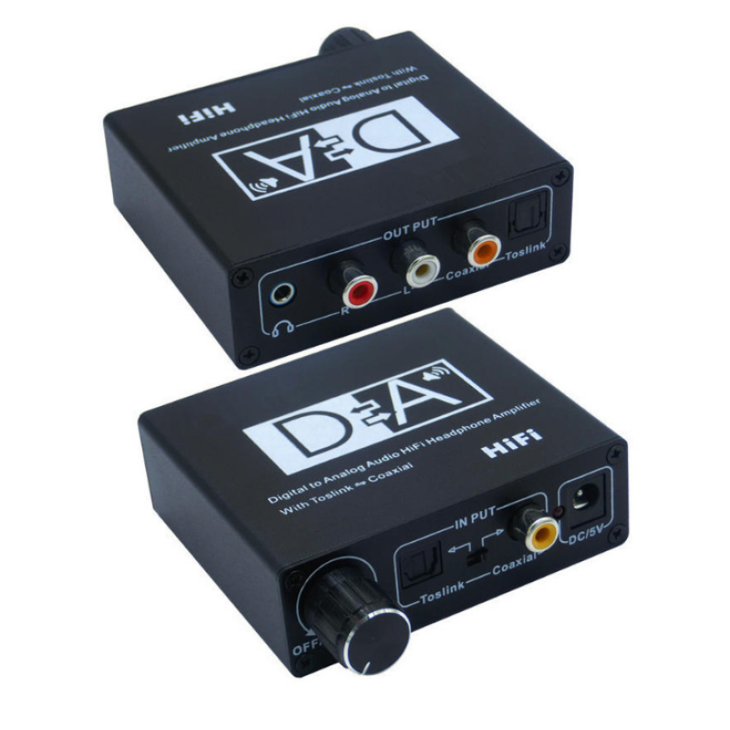 Optical/Toslink/Coaxial 192KHZ to RCA Μετατροπέας Ψηφιακού Ήχου με ρύθμιση έντασης