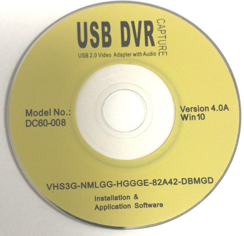 USB καταγραφής βίντεο από αναλογική πηγή Video Grabber EasyCap Video Capture win10 OEM