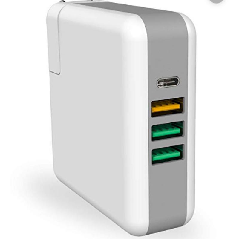 KP-4UPD Σταθμός Φόρτισης USB 4 Θέσεων PD+QC CHARGER 61W