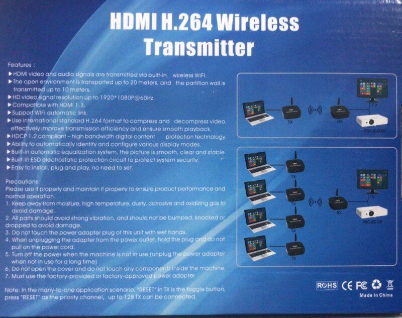 HDMI WiFi Η.264 Ασύρματος Αναμεταδότης Εικόνας & Ήχου Ζευγος