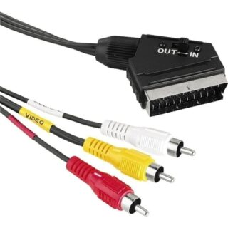 SCART TO  RCA  cable 1,5M ΜΕ ΔΙΑΚΟΠΤΗ IN/OUT