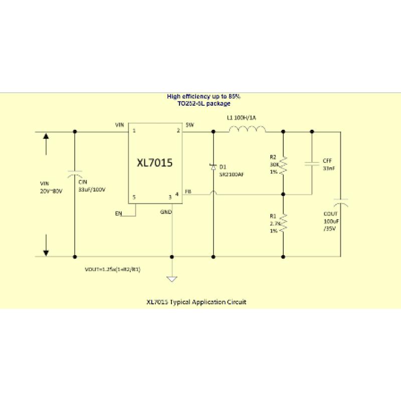 XL-7015 Step Down DC/DC Converter  5V-80V