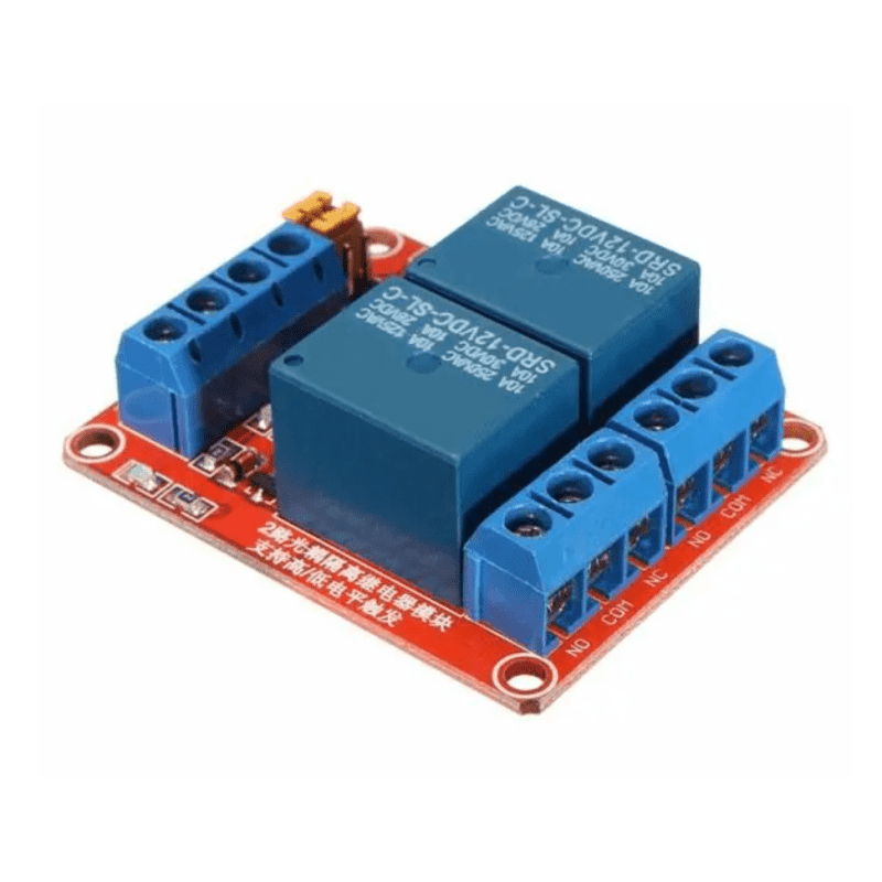 12V 2-Channel Relay Module Board with Optocouplers (High/Low)