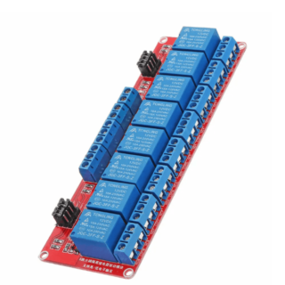 12V 8-Channel Relay Module Board with Optocouplers