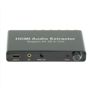 5.1CH 4K 3D HDMI Audio Extractor Converter HDMI to HDMI Decoder Adapter