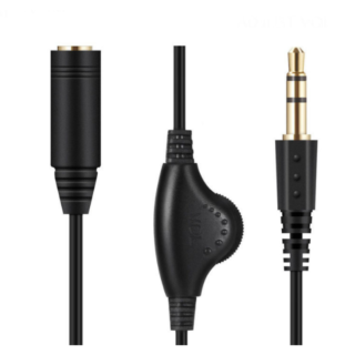 Kαλωδιο  ηχου για ακουστικα με ρυθμιση εντασης RHO-S01 30cm