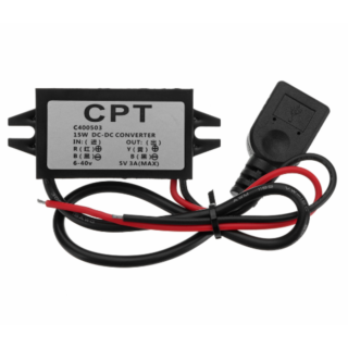 CPT Converter Module 12V To 5V 3A 1USB Output Power Adapter Car