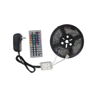 Αυτοκόλλητη ταινία LED RGB 3528 SMD 5m με χειριστήριο και τροφοδοτικό 12V2A  OEM