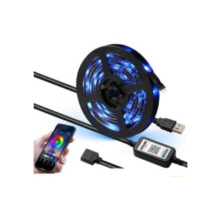 SMD5050 5M Αυτοκόλλητη ταινία LED RGB TV background light with USB Bluetooth controller