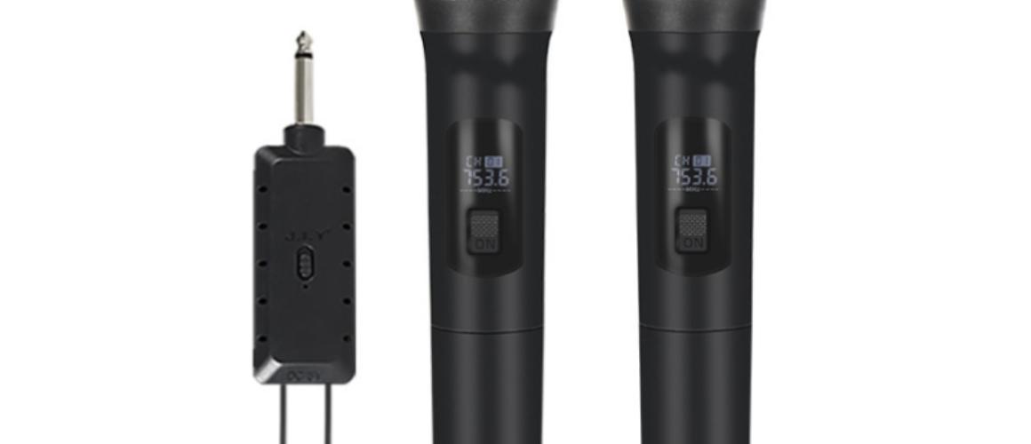 KTV Ασύρματo Μικρόφωνο δυναμικο UHF PLL  διπλο E6