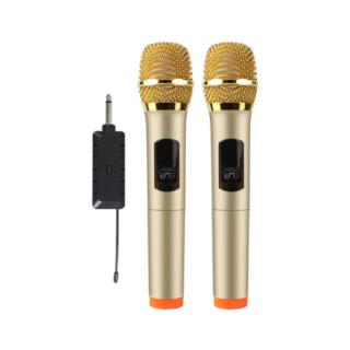 KTV Ασύρματo Μικρόφωνο δυναμικο UHF PLL  διπλο E9D