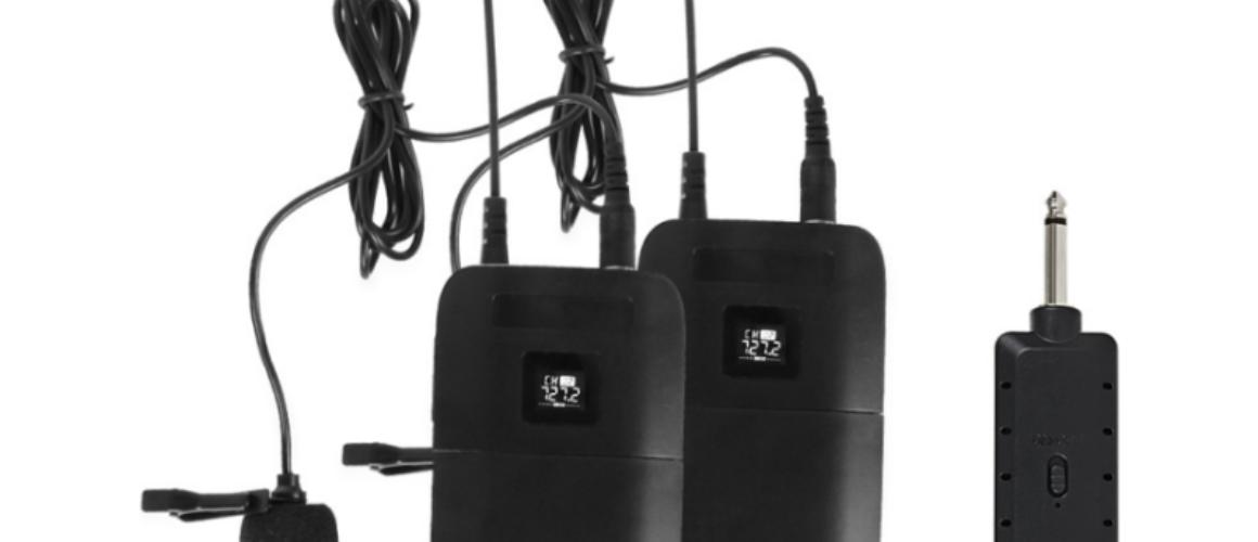KTV Ασύρματo Μικρόφωνο Χειλοφωνο VHF 200-270MHZ  διπλο E8