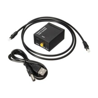 Optical/Toslink/Coaxial to RCA Μετατροπέας Ψηφιακού Ήχου με οπτικη ινα