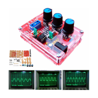 XR2206 Function Signal Generator DIY Kit Sine Triangle Square Output 1HZ-1MHZ with case