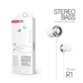 R1 Type 3,5mm  Stereo Headset Ακουστικά με μικρόφωνο λευκά Tranyoo