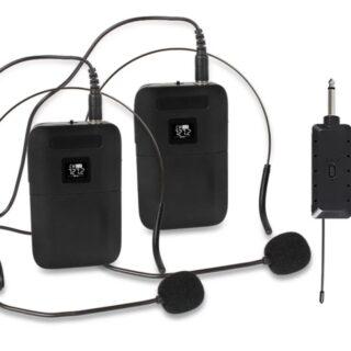 KTV Ασύρματo Μικρόφωνο χειλοφωνο  UHF PLL  διπλο E9X